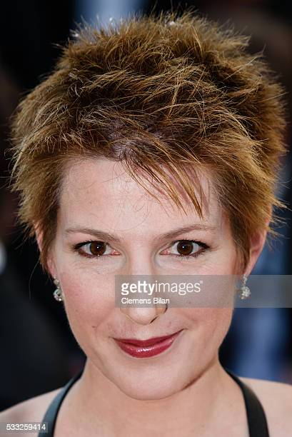 Journalist Natacha Polony attends the 'Elle' premiere during the 69th annual Cannes Film Festival at the Palais des Festivals on May 21 2016 in...