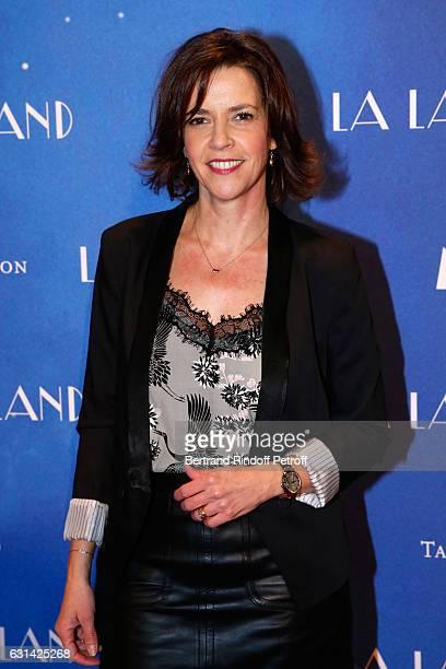 Journalist Nathalie Renoux attends the La La Land Paris Premiere at Cinema UGC Normandie on January 10 2017 in Paris France