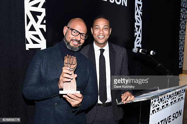 Journalist Native Son Creator Emil Wilbekin presents Honoree journalist Don Lemon with the Native Son Award during the inaugural Native Son Awards...