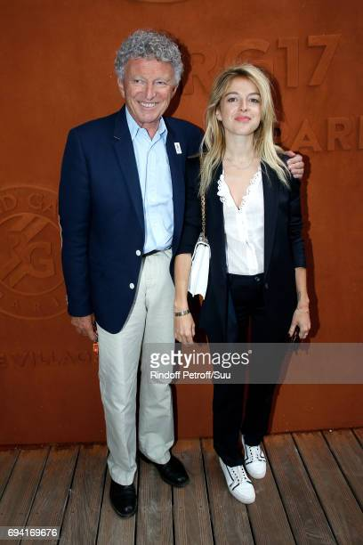 Journalist Nelson Monfort and his daughter actress Victoria Monfort attend the 2017 French Tennis Open Day Thirteen at Roland Garros on June 9 2017...