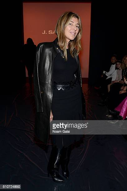 Journalist Nina García attends the Salinas Fall 2016 show during New York Fashion Week The Shows at The Dock Skylight at Moynihan Station on February...