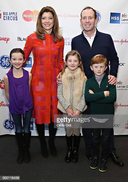Journalist Norah O' Donnell husband Geoff Tracy and children Riley Grace and Henry attend The Hospital for Special Surgery's 9th Annual Big Apple...