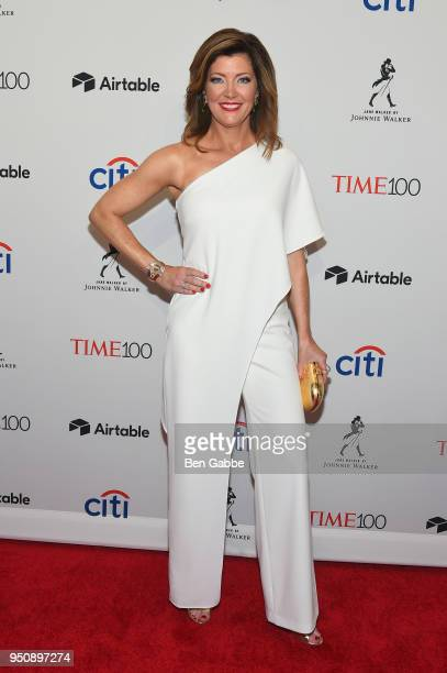 Journalist Norah O'Donnell attends the 2018 Time 100 Gala at Jazz at Lincoln Center on April 24 2018 in New York City