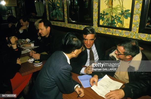 Journalist Olivier Todd At The Brasserie Lipp in Paris November 1987