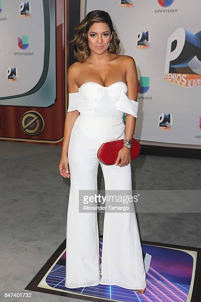 Journalist Pamela Silva Conde attends the Univision's 13th Edition Of Premios Juventud Youth Awards at Bank United Center on July 14 2016 in Miami...