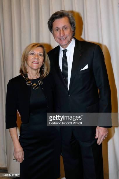 Journalist Patrick de Carolis and his wife CarolAnn attend the celebration of the 10th Anniversary of the 'Fondation Prince Albert II De Monaco' at...