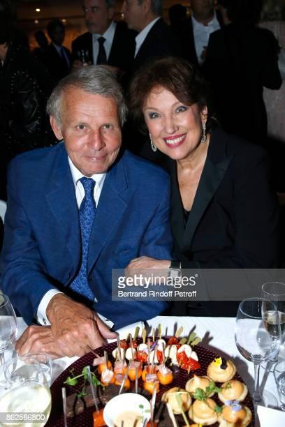 Journalist Patrick Poivre d'Arvor and politician Roselyne Bachelot Narquin attend the 25th 'Gala de l'Espoir' at Theatre des ChampsElysees on October...