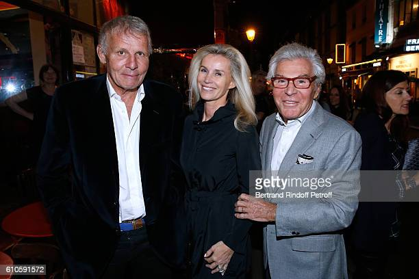 Journalist Patrick Poivre d'Arvor JeanDaniel Lorieux and his companion Laura Restelli attend the 'Trophees du Bien Etre' by Beautysane 2nd Award...