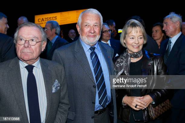 Journalist Paul Lefevre former Paris Police chiefs Robert Broussard and Martine Monteil attend the 100th Anniversary Of The Paris Judiciary Police...