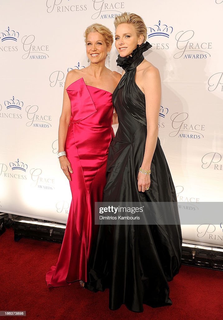 Journalist Paula Zahn and HSH Princess Charlene of Monaco attend the 2013 Princess Grace Awards Gala at Cipriani 42nd Street on October 30, 2013 in New York City.