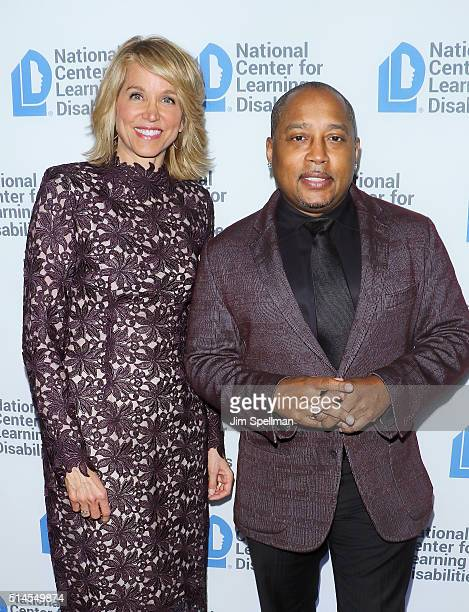 Journalist Paula Zahn and TV personality Daymond John attend the 39th Annual NCLD Benefit Dinner at Mandarin Oriental Hotel on March 9 2016 in New...