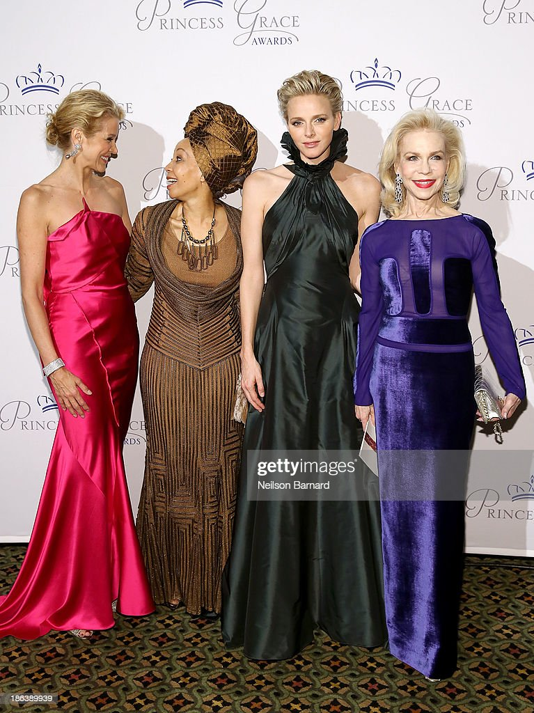 Journalist Paula Zahn, Bridgette Radebe, HSH Princess Charlene of Monaco and Lynn Wyatt attend the 2013 Princess Grace Awards Gala at Cipriani 42nd Street on October 30, 2013 in New York City.