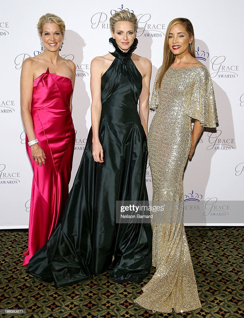 Journalist Paula Zahn, HSH Princess Charlene of Monaco and actress Michael Michele attend the 2013 Princess Grace Awards Gala at Cipriani 42nd Street on October 30, 2013 in New York City.