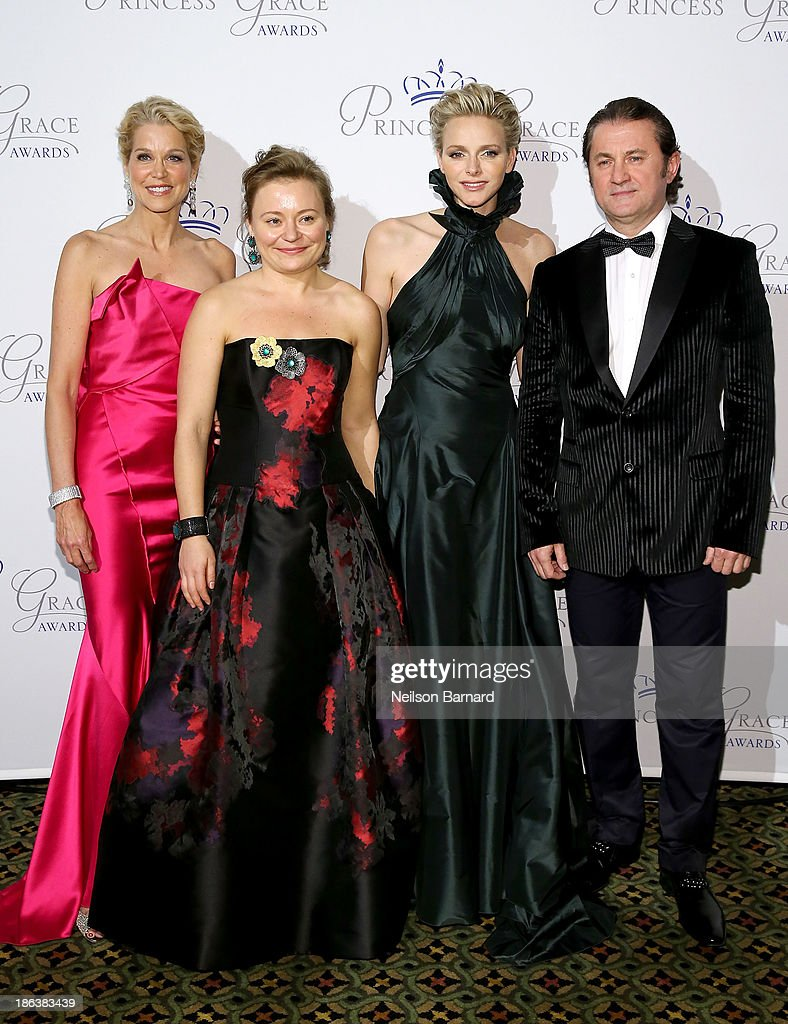 Journalist Paula Zahn, Maria Soldier, HSH Princess Charlene of Monaco and jeweler Alex Soldier attend the 2013 Princess Grace Awards Gala at Cipriani 42nd Street on October 30, 2013 in New York City.