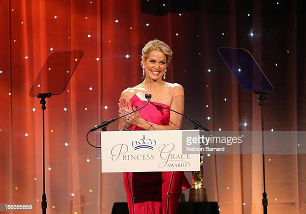 Journalist Paula Zahn speaks onstage at the 2013 Princess Grace Awards Gala at Cipriani 42nd Street on October 30 2013 in New York City
