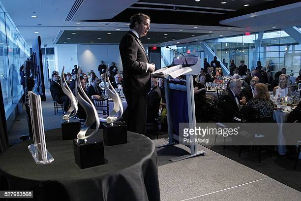 Journalist Peter Bergen on stage at the James W Foley Freedom Awards at The Newseum on May 3 2016 in Washington DC The James W Foley Legacy...