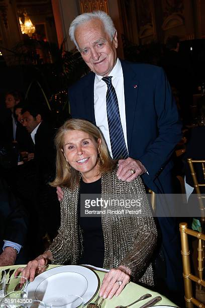 Journalist Philippe Labro and his wife Francoise Coulon attend the Societe des Amis du Musee D'Orsay Dinner and Private tour of the Exhibition Le...