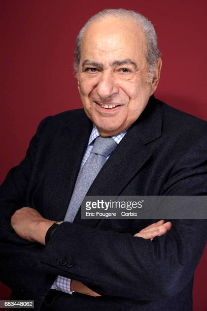 Journalist Pierre Benichou poses during a portrait session in Paris France on
