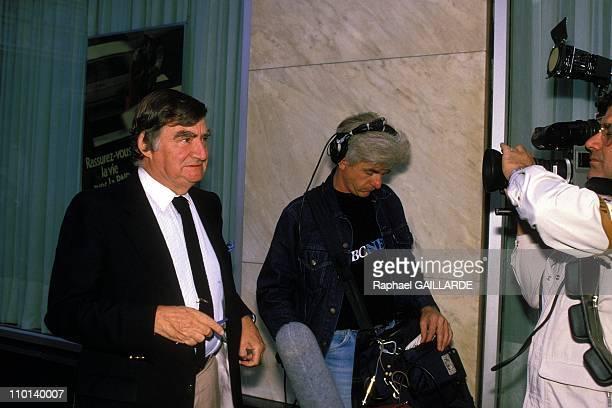Journalist Pierre Salinger in Paris, France on February 25, 1987.