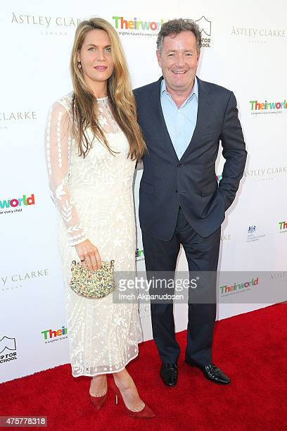 Journalist Piers Morgan and wife, Celia Walden, attend the British Consul General hosted Theirworld collaboration with Astley Clarke summer reception...