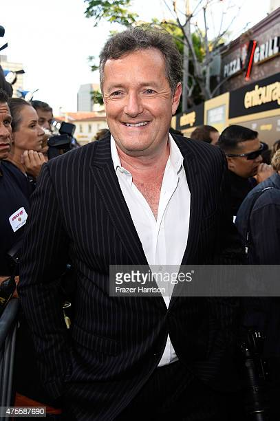 Journalist Piers Morgan attends the premiere of Warner Bros Pictures' 'Entourage' at Regency Village Theatre on June 1 2015 in Westwood California