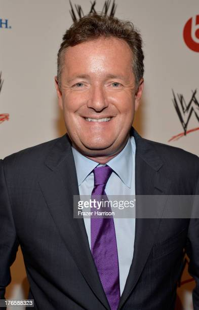 Journalist Piers Morgan attends WWE E Entertainment's 'SuperStars For Hope' at the Beverly Hills Hotel on August 15 2013 in Beverly Hills California