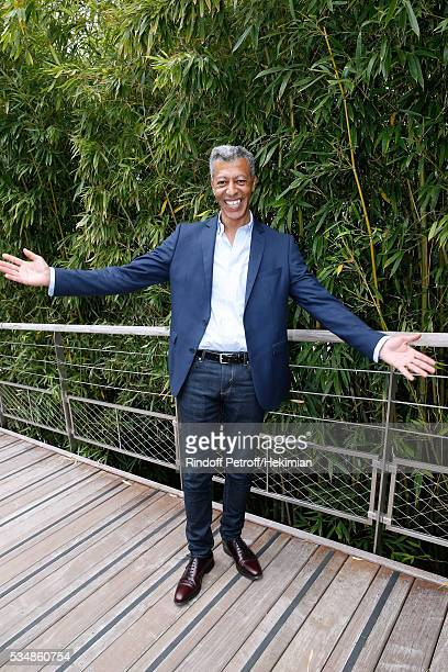 Journalist Rachid M'Barki attends Day Seven of the 2016 French Tennis Open at Roland Garros on May 28 2016 in Paris France
