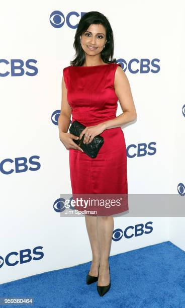 Journalist Reena Ninan attends the 2018 CBS Upfront at The Plaza Hotel on May 16 2018 in New York City