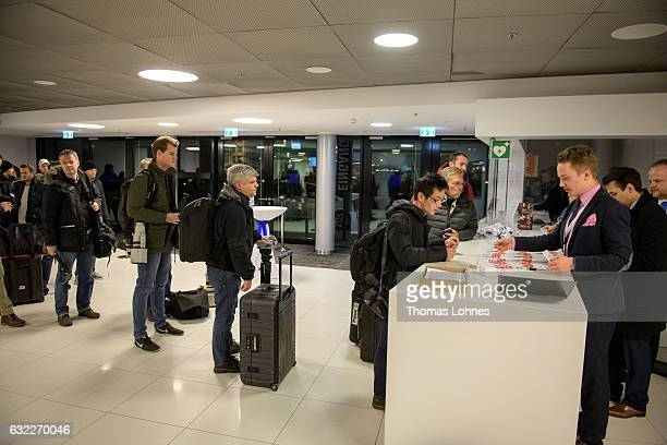 Journalist register for the conference of European rightwing parties on January 21 2017 in Koblenz Germany In an event hosted by the Europe of...