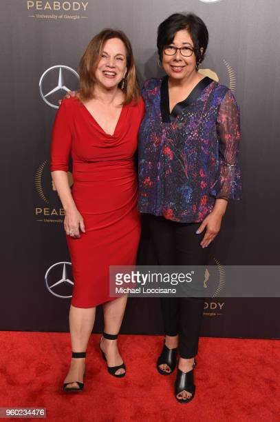 Journalist Renee Montagne and Nina Martin attend The 77th Annual Peabody Awards Ceremony at Cipriani Wall Street on May 19 2018 in New York City