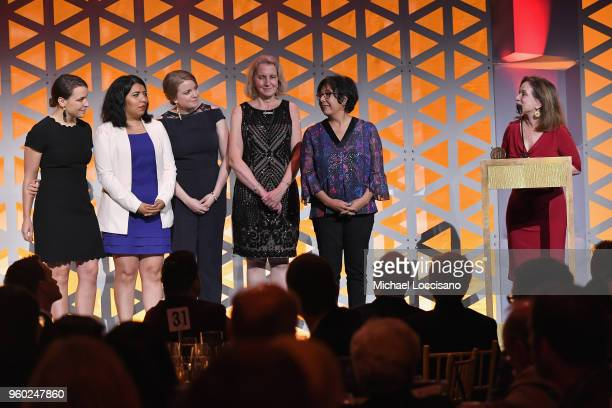 Journalist Renee Montagne of Lost Mothers Maternal Mortality in The US speaks on stage with documentary subjects during The 77th Annual Peabody...
