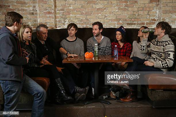 Journalist Rob Feld actors Cheryl Hines Paul Reiser Dane DeHaan filmmaker Jeff Baena and actors Aubrey Plaza Molly Shannon and Matthew Gray Gubler...