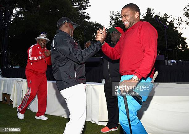 Journalist Roland Martin singer Johnny Gill and actors Cedric the Entertainer and Anthony Anderson attended the 8th Annual George Lopez Celebrity...