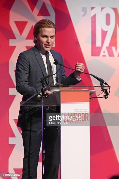 Journalist Ronan Farrow speaks at the 2019 Mirror Awards at Cipriani 42nd Street on June 13, 2019 in New York City.