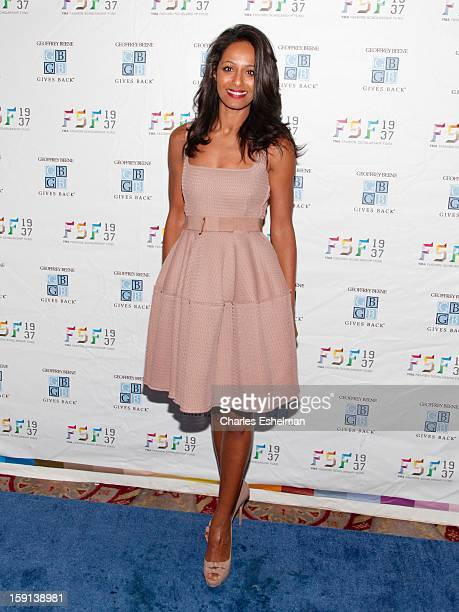 Journalist Rula Jebreal attends the 2013 YMA Fashion Scholarship Fund Geoffrey Beene awards dinner at The Waldorf=Astoria on January 8 2013 in New...