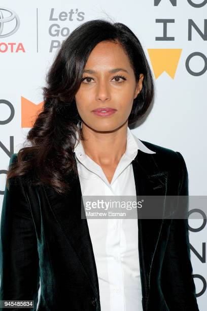 Journalist Rula Jebreal attends the 2018 Women In The World Summit at Lincoln Center on April 12 2018 in New York City
