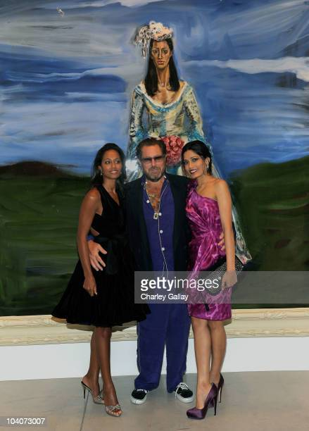 Journalist Rula Jebreal director/artist Julian Schnabel and actress Freida Pinto attend The Weinstein and Alliance Pictures Party for 'Miral' hosted...
