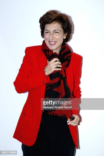 Journalist Ruth Elkrief attends the BFM TV's Press Conference to announce their TV Schedule for 2017/2018 on September 8 2017 in Paris France