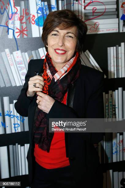Journalist Ruth Elkrief attends the Manifesto Sonia Rykiel 5Oth Birthday Party at the Flagship Store Boulevard Saint Germain des Pres on January 16...