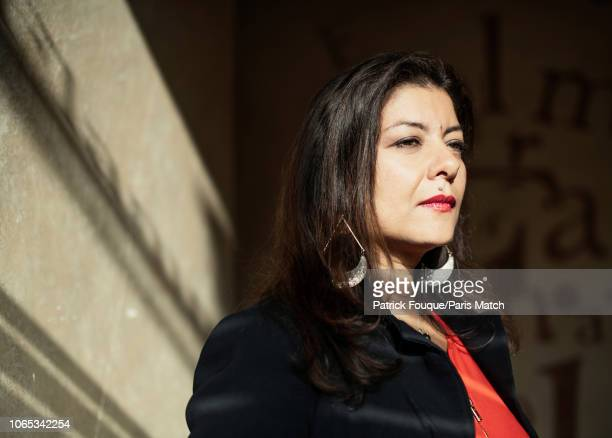 Journalist Sandra Muller is photographed for Paris Match on November 2 2018 in Paris France