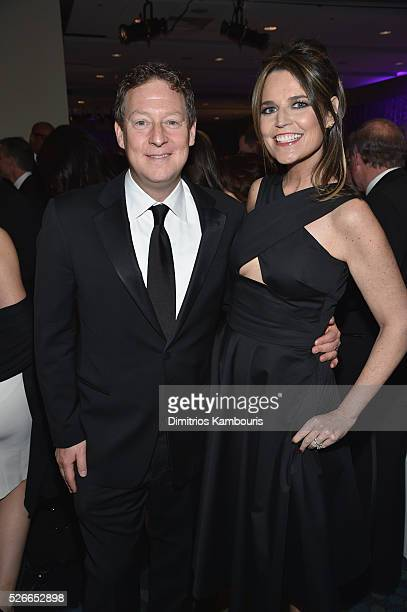 Journalist Savannah Guthrie and Michael Feldman attend the Yahoo News/ABC News White House Correspondents' Dinner PreParty at Washington Hilton on...