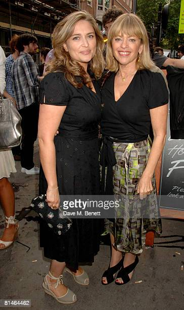 Journalist Shebah Ronay and designer Edina Ronay attend the private view of 'Jonathan Yeo Blue Period' at Lazarides June 5 2008 in London England