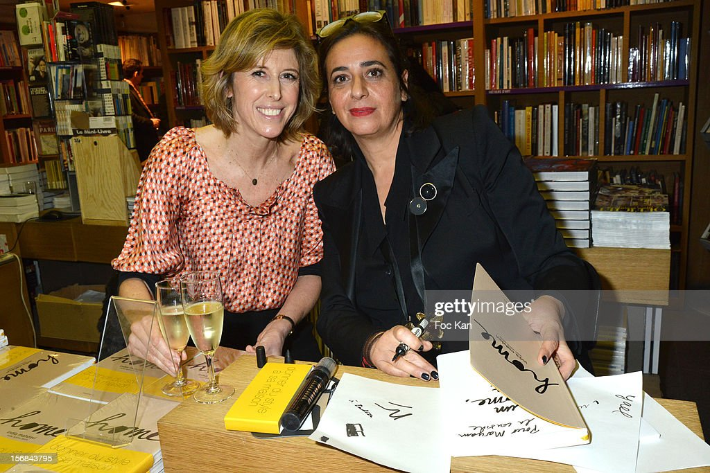 Journalist Soline Delos and architect India Mahdavi attend 'Home' India Madhavi and Soline Delos Book Launch at Musee Arts Decoratif Bookshop on November 22, 2012 in Paris, France.