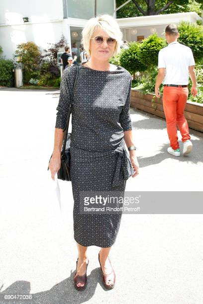 Journalist Sophie Davant attends the 2017 French Tennis Open Day Four at Roland Garros on May 31 2017 in Paris France