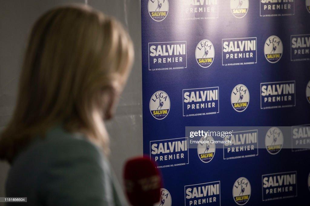 ITA: Salvini's Lega Party Holds EU Election Night Event
