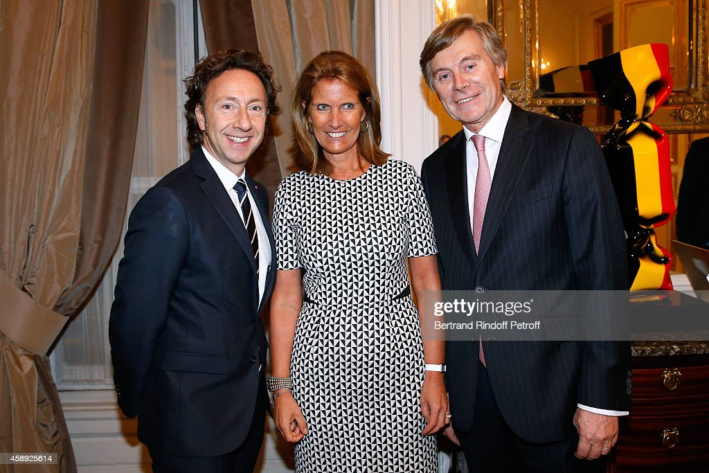 """Cocktail Party For The """"King Of Belgium's Feast"""" At Belgium Embassy In Paris"""