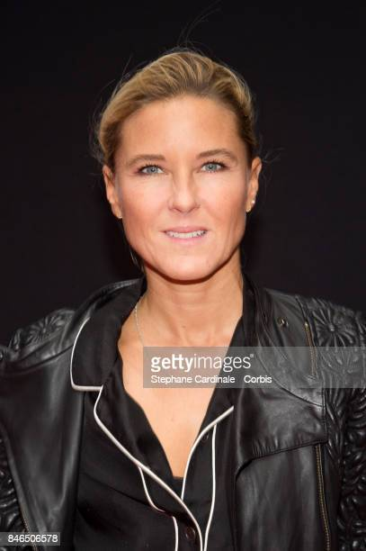 Journalist Stephanie Renouvin attends the RTLRTL2Fun Radio Press Conference to Announce Their TV Schedule for 2017/2018 at Cinema Elysee Biarritz on...