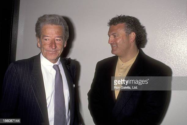 Journalist Steve Dunleavy and Joey Buttafuoco attend Joey Buttafuoco's Arraignment Hearing on Solicitation of Prostitution Charge on July 7 1995 at...