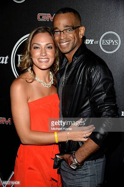 ESPN journalist Stuart Scott and Kim Scott attend the Body at ESPYS PreParty at Lure on July 15 2014 in Hollywood California