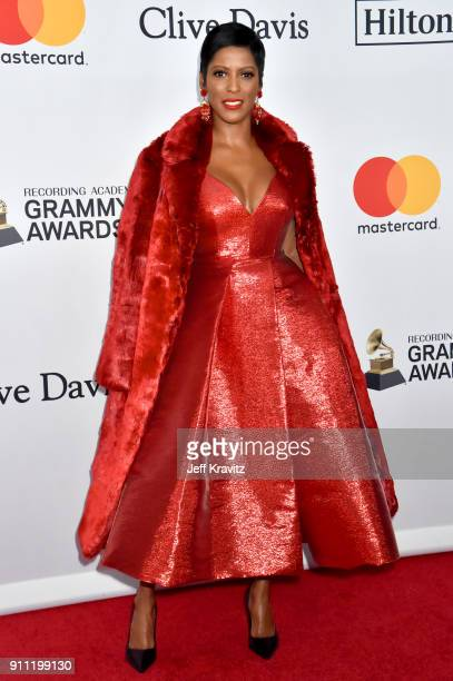 Journalist Tamron Hall attends the Clive Davis and Recording Academy PreGRAMMY Gala and GRAMMY Salute to Industry Icons Honoring JayZ on January 27...